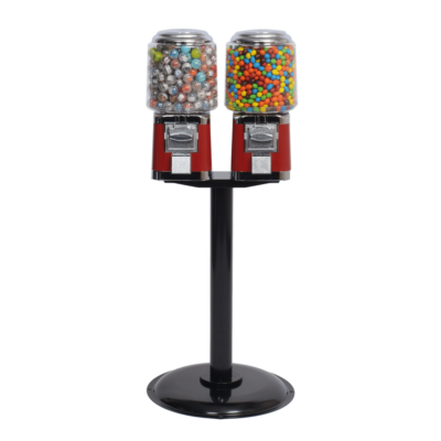 Double Barrel Head Machine with Stand, double barrel head, double barrel head machine, candy vending, barrel head