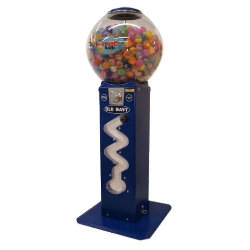 Spiral vending machine, zig zag vending machine, bouncy ball vending machine, capsule vending machine